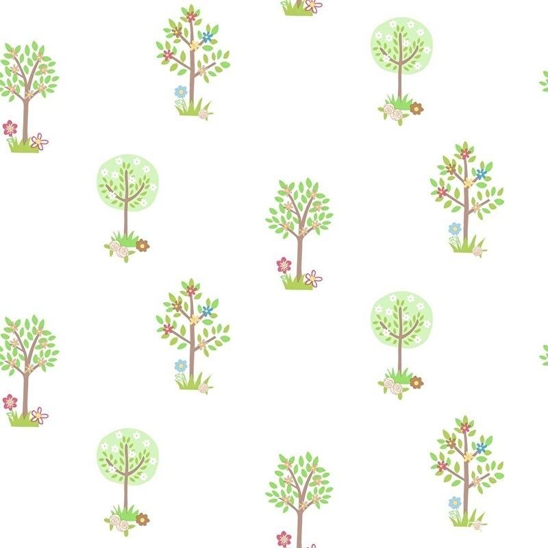 Bomen behang groen bruin 164 2 stuks ivm retour