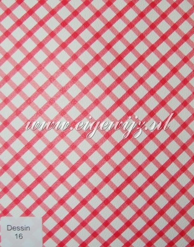 24. Behang per meter Wibertje rood wit