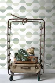 Esta Home Scandi Cool Photowall halve cirkels retro groen 158904