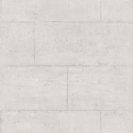 Global Fusion behang Stenen blokken muur lichtgrijs 6393