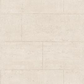 Global Fusion behang Stenen blokken muur zand 6392