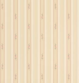 2 rollen Engels Streepjesbehang met roosjes FD49230