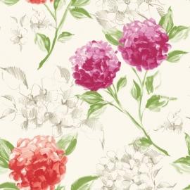 019. Esta Home Hortensia`s roze & oranje 128019