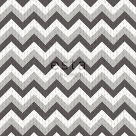 036. Esta Home Wolbehang met puntstreep in 2 kleuren grijs 138138