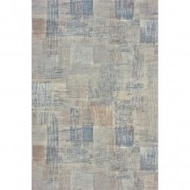 Casadeco Marina Blokjespatroon beige licht bruin blauw