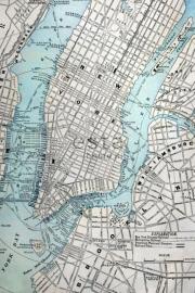 Esta Home PhotowallXL old street map NY 157702