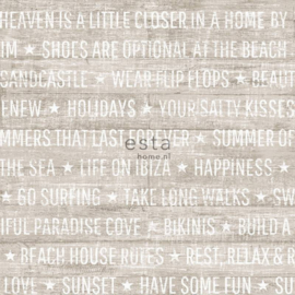Esta Home Cabana Zomerse quotes behang 148640