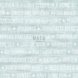 Esta Home Cabana Zomerse quotes behang 148641