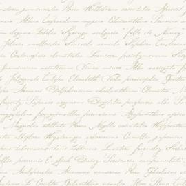 032. Esta Home Handgeschreven latijnse bloemennamen beige op creme 128032