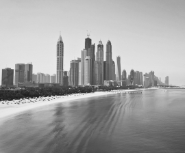 Dutch Fotobehang Dubai Zwart Wit