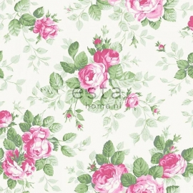 038. Esta Home Rozenbehang in roze/groen 138109