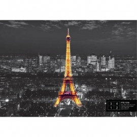 Dutch Wallcoverings Fotobehang Eiffeltoren bij Nacht