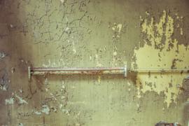 Oude muur met oude TLbak
