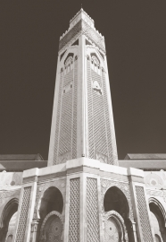 Dutch Fotobehang Casablanca toren Sepia