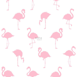 Esta Home Jungle Fever behang Flamingo's 138992 roze
