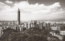 Dutch Fotobehang Taipei Sepia