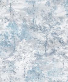 Noordwand Global Fusion Bomen behang Blauw 6431