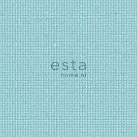 055. Esta Home Uni turquoise/lichtteale met stofmotief 138131