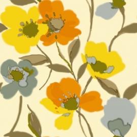 030. Esta Home Klaprozen retro geel & oranje 128030