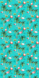 Esta Home fotobehang Poster Flamingo 158609
