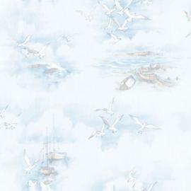 Noordwand Global Fusion Nautisch behang blauw 6423