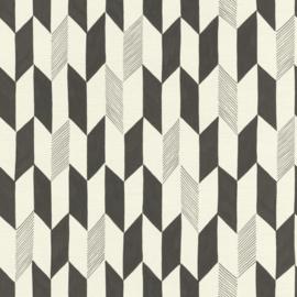 Onszelf Most Fabulous behang 531046  geometrisch behang creme zwart