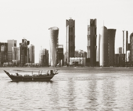 Dutch Fotobehang Doha Sepia