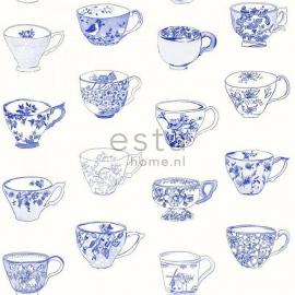 015. Kopjes theebehang in delfs blauw 138152