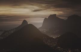 Dutch Fotobehang Rio de Janeiro Vintage Brown