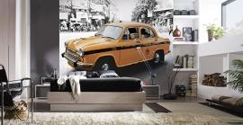 Dutch Fotobehang Delhi Taxi Kleur