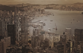 Dutch Fotobehang Hong Kong Vintage Brown