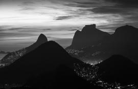 Dutch Fotobehang Rio de Janeiro Zwart Wit