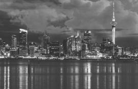 Dutch Fotobehang Auckland Zwart Wit