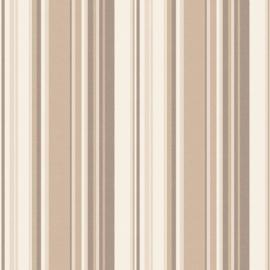 Noordwand Global Fusion Streepjes behang  beige/bruin 6409