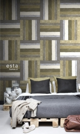 Esta Home Vintage Rules! ColorwallXL Hout 158212
