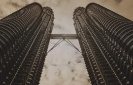 Dutch Fotobehang Kuala Lumpur Vintage Brown