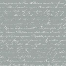 034. Esta Home Handgeschreven latijnse bloemennamen grijs 128034