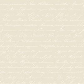 033. Esta Home Handgeschreven latijnse bloemennamen beige 128033