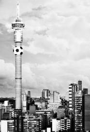 Dutch Fotobehang Johannesburg Zwart wit