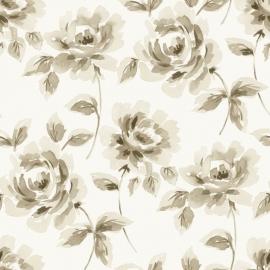 012. Esta Home Aquarel rozen in beige/bruin 128012