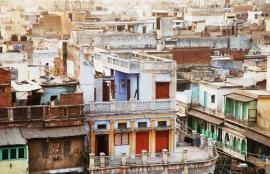 Dutch Fotobehang  Delhi Huisjes Kleur