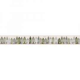 Esta Home PhotoWall Amsterdamse Huizen Leger groen 157715
