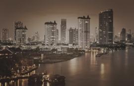 Dutch Fotobehang Bangkok Sepia