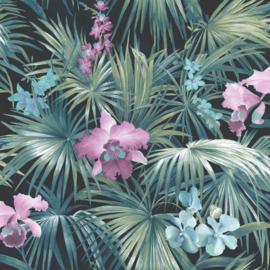Noordwand Global Fusion Tropisch bloembehang 6433