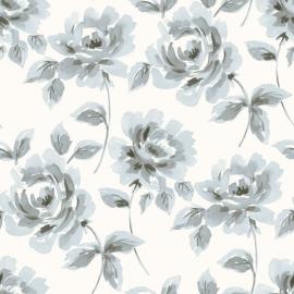 013. Esta Home Aquarel rozen licht blauw & grijs 128013