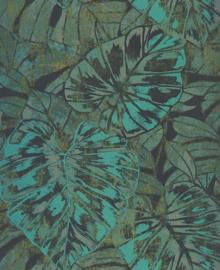 Panama Tropische bladeren groen 7509