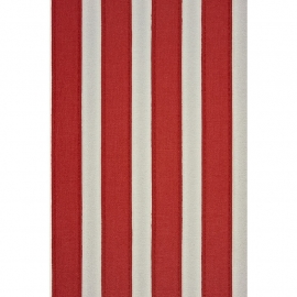 Casadeco Marina streepbehang creme rood