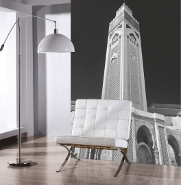 Dutch Fotobehang Casablanca toren Zwart Wit
