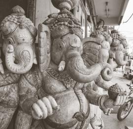 Dutch Fotobehang Delhi Sepia