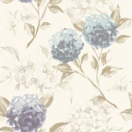 023. Esta Home Hortensia`s pastel blauw & lila 128023